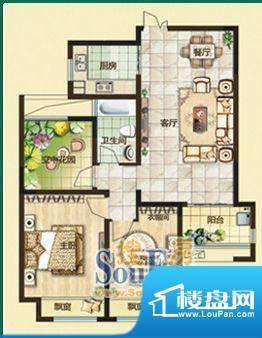 绿都万和城户型图2c户型 1室2厅面积:97.00平米