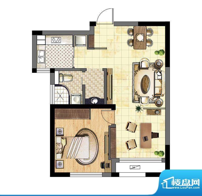 港龙紫荆城户型图户型图 2室2厅面积:68.00平米
