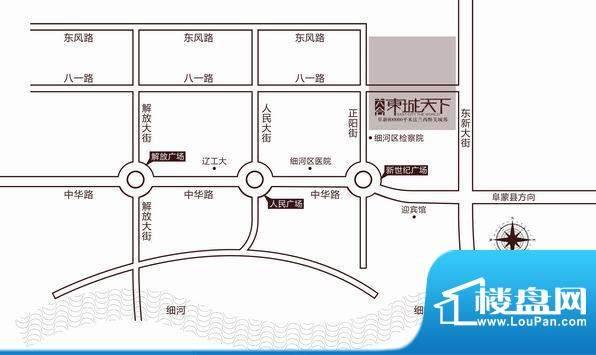 六合·东城天下交通图