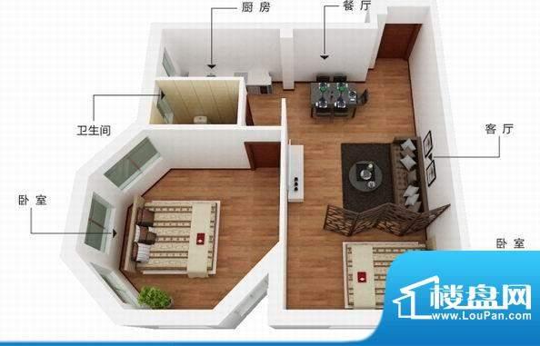六合·东城天下B 户面积:74.25m平米