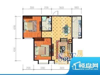 大唐·荣城E3户型 2面积:99.26m平米