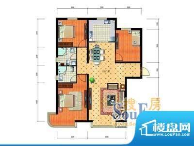 大唐·荣城E1户型 3面积:141.37m平米