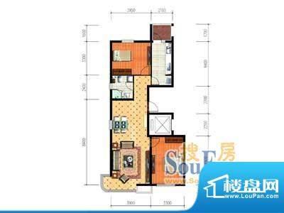 大唐·荣城B9户型 2面积:113.51m平米