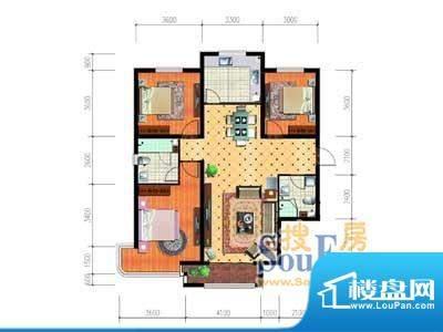 大唐·荣城C10户型 面积:132.52m平米