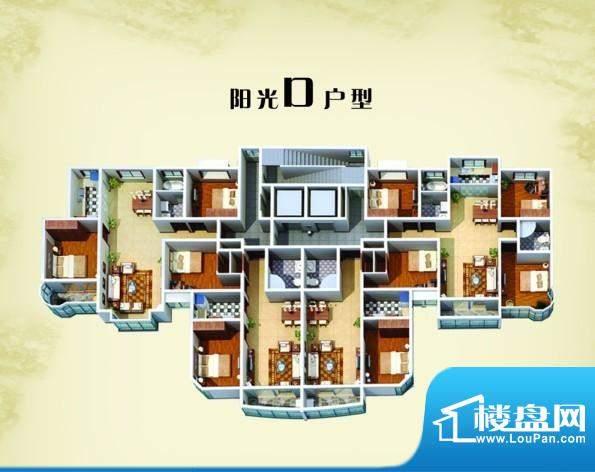 三禾·蓝湾阳光D户型面积:0.00m平米