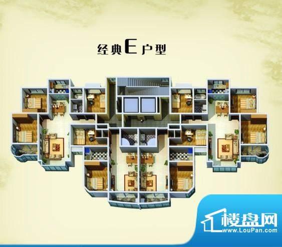 三禾·蓝湾经典E户型面积:0.00m平米