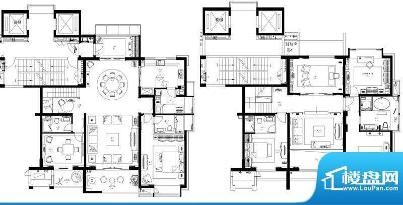 星河国际户型图户型图 5室6厅4面积:287.00平米