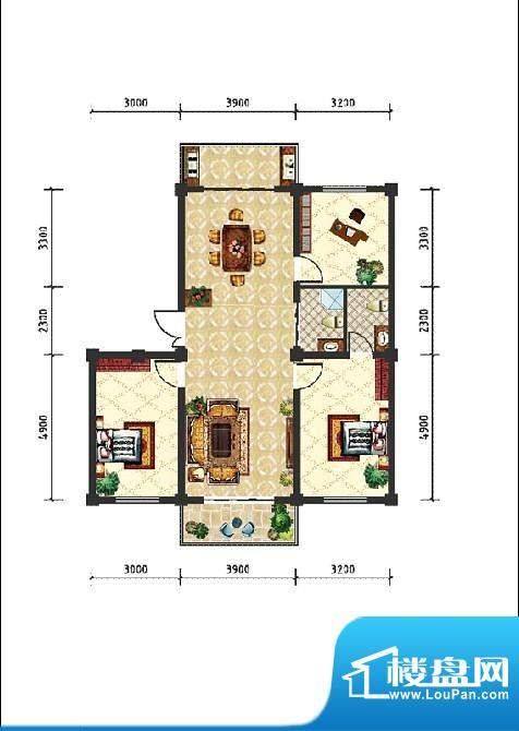 和美雅苑户型图 3室面积:116.40m平米