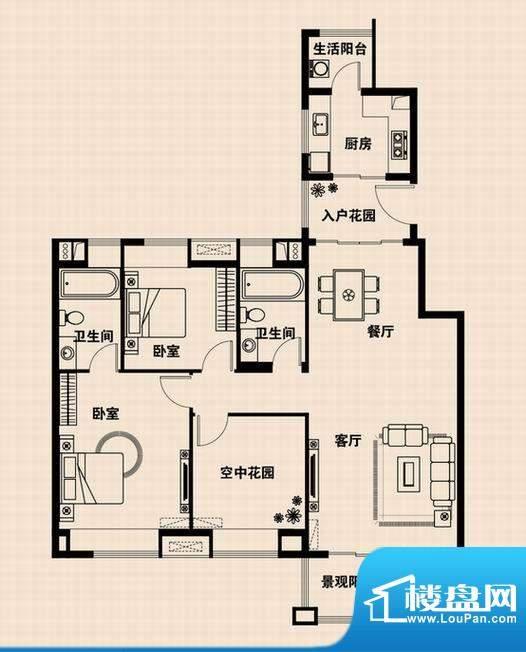 兴光·凯旋国际公馆面积:127.95m平米