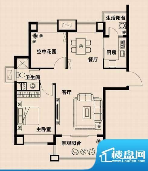 兴光·凯旋国际公馆面积:83.84m平米