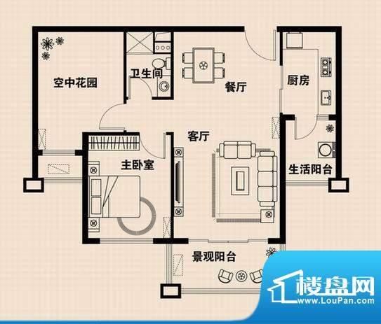 兴光·凯旋国际公馆面积:78.88m平米