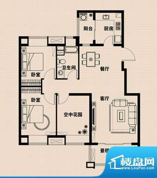 兴光·凯旋国际公馆面积:104.89m平米