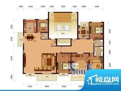 恒盛国际A3 4室3厅3面积:314.58m平米