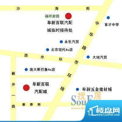 百联汽配城交通图