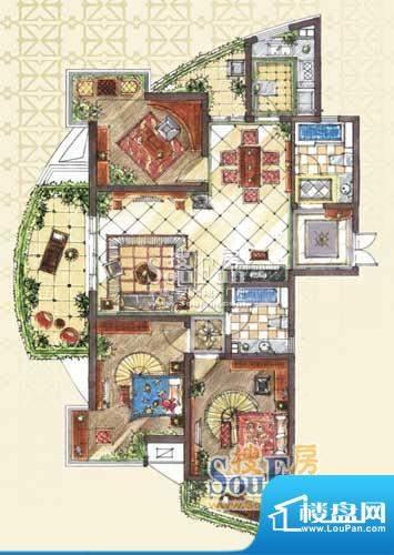 九洲新世界户型图C1-1户型 3室面积:143.00平米