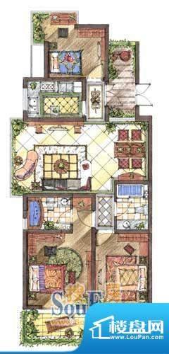 九洲新世界户型图C5户型 3室2厅面积:118.57平米
