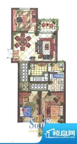 九洲新世界户型图B2户型 3室2厅面积:155.00平米