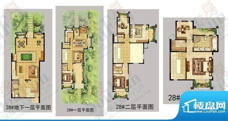 美林湖户型图28# DN3户型图 5室
