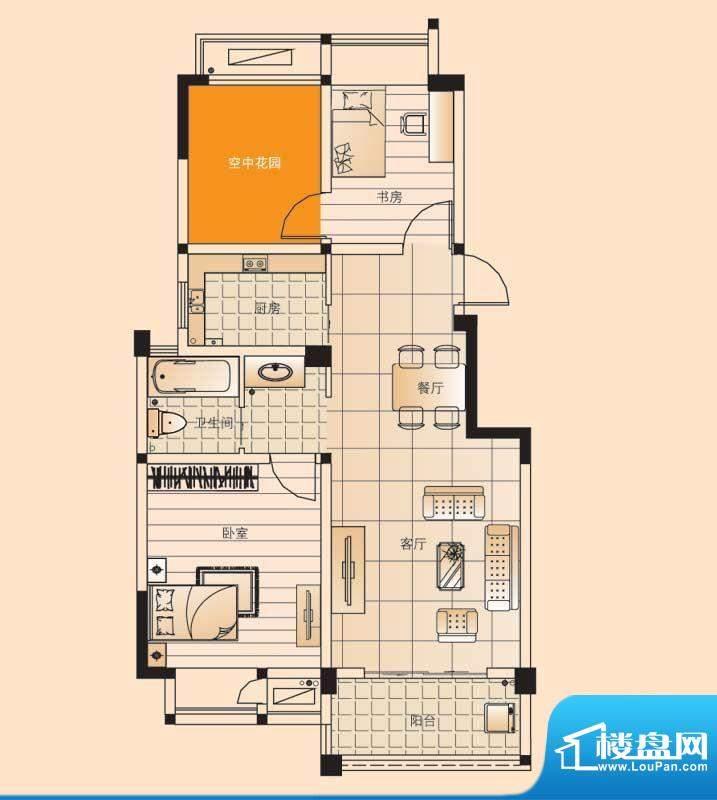 翡翠珑湾户型图小高层D1户型 2面积:85.34平米