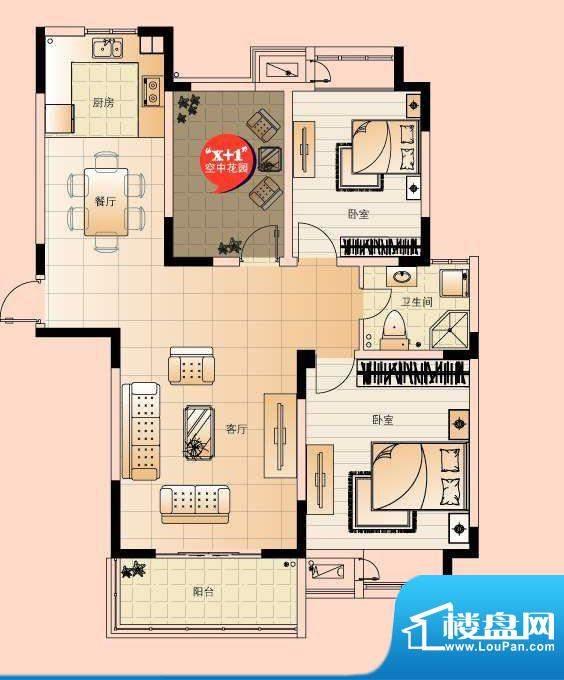 翡翠珑湾户型图G2户型 3室2厅1面积:110.75平米