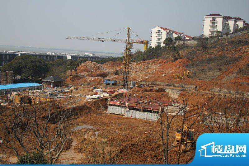 九洲红墅岭实景图工程进度(2012-03-22