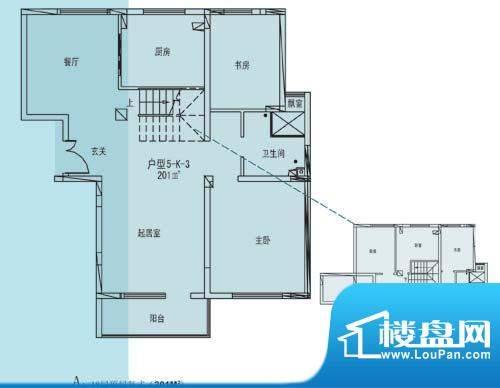 凯纳华侨城户型图E-1-6户型 6室面积:201.00平米