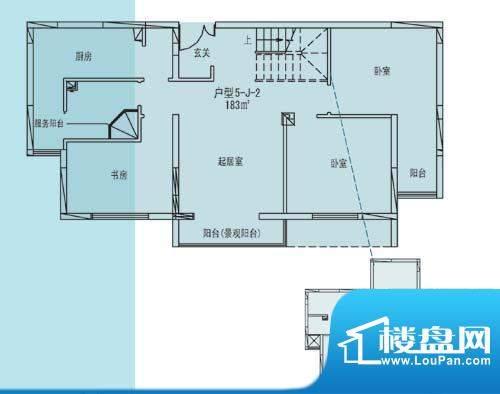 凯纳华侨城户型图E-1-3户型 6室面积:183.00平米