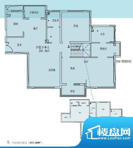 凯纳华侨城户型图D-1-9户型 7室面积:241.38平米