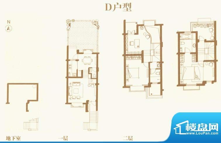东渡海派青城户型图D户型 4室2面积:117.00平米