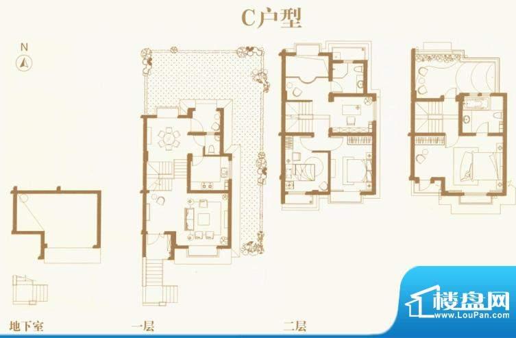 东渡海派青城户型图C户型 5室2面积:140.00平米