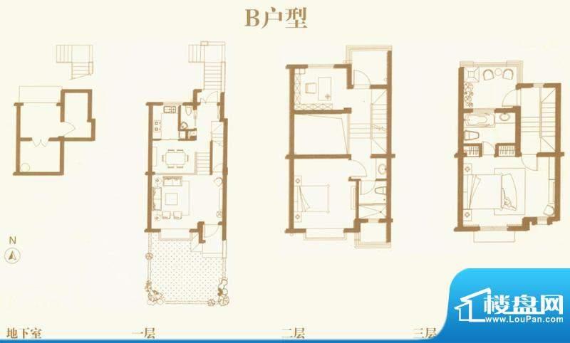 东渡海派青城户型图B户型 5室2面积:116.00平米