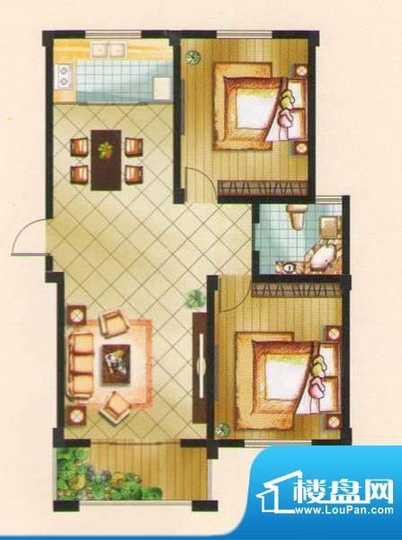 名城景园户型图7-乙-01 3室2厅面积:94.78平米