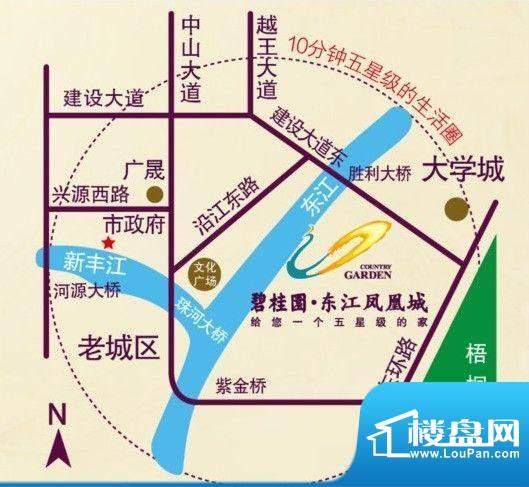 碧桂园东江凤凰城交通图
