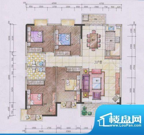 宝晟花园户型图 面积:0.00m平米