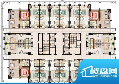 新世界广场标准层户面积:0.00m平米