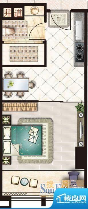 新世界广场户型1 面积:0.00m平米