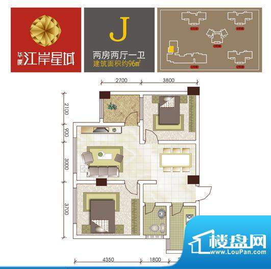 江岸星城1号楼新增户面积:0.00m平米
