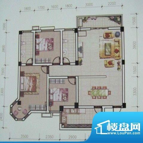 荆州花园二期A户型1面积:143.00m平米