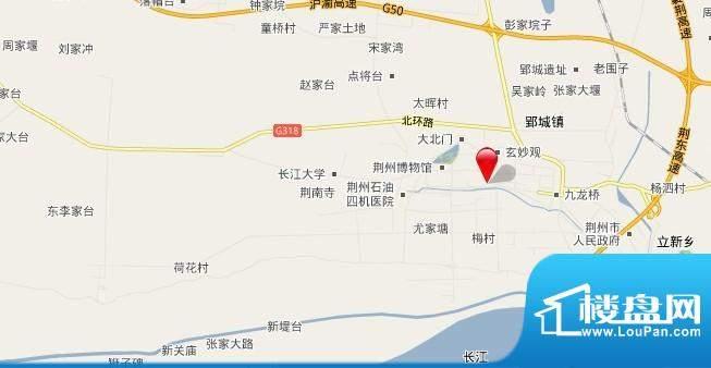 荆州摩尔城交通图