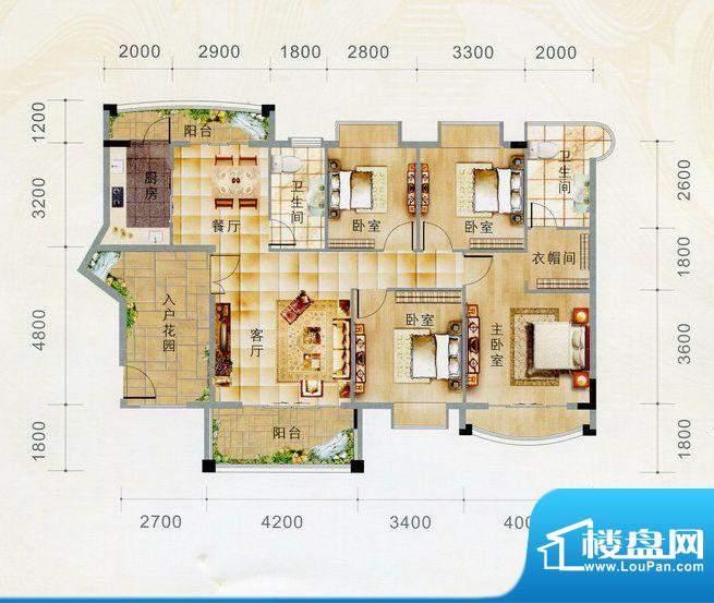 江门 嘉峰汇 户型图面积:140.00m平米