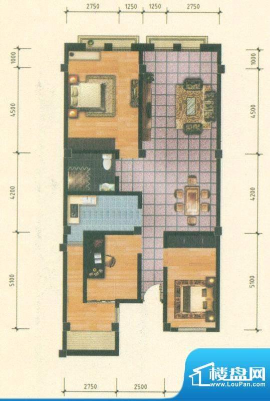 乡鸭湖户型图商铺A三层户型 3室面积:135.00平米