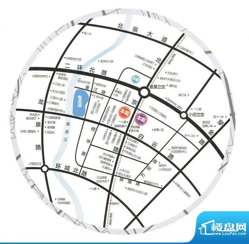 同德昆明广场交通图