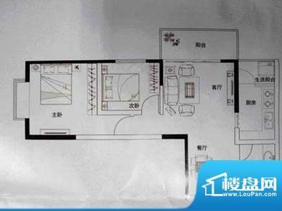 润城 2室 户型图面积:75.00平米