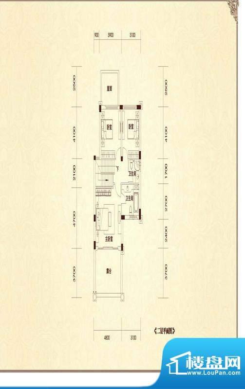 恒大金碧天下二期户型图B1-2户面积:181.25平米