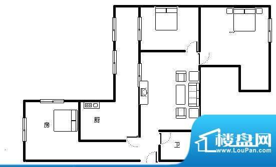 恒大金碧天下 6室 户型图面积:262.00平米
