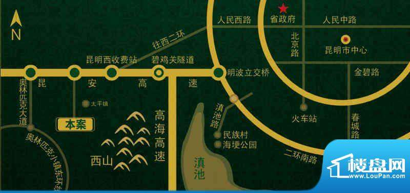 博欣天籁郡交通图