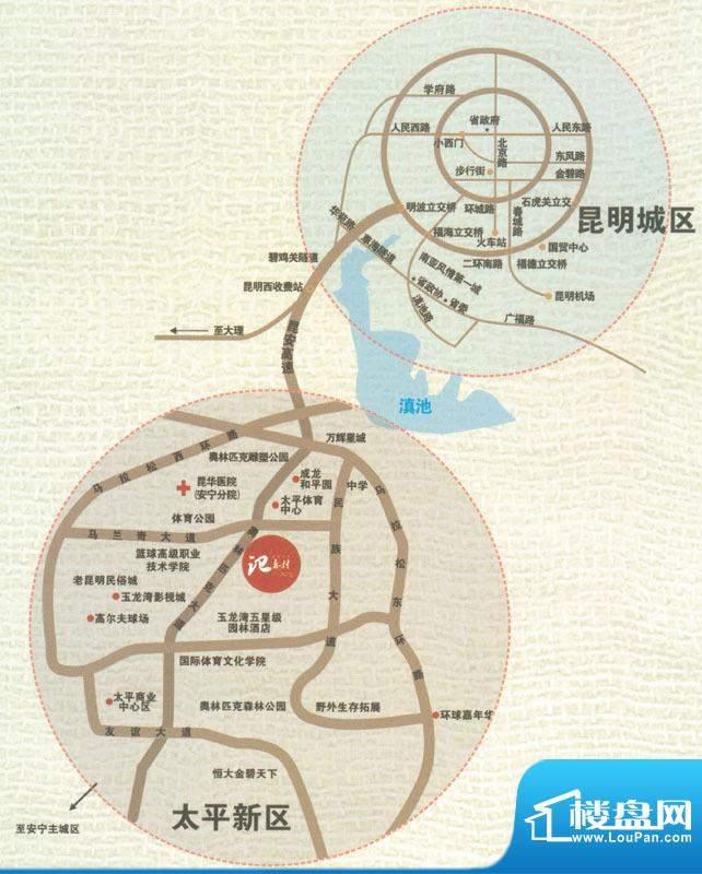奥林匹克记者村交通图