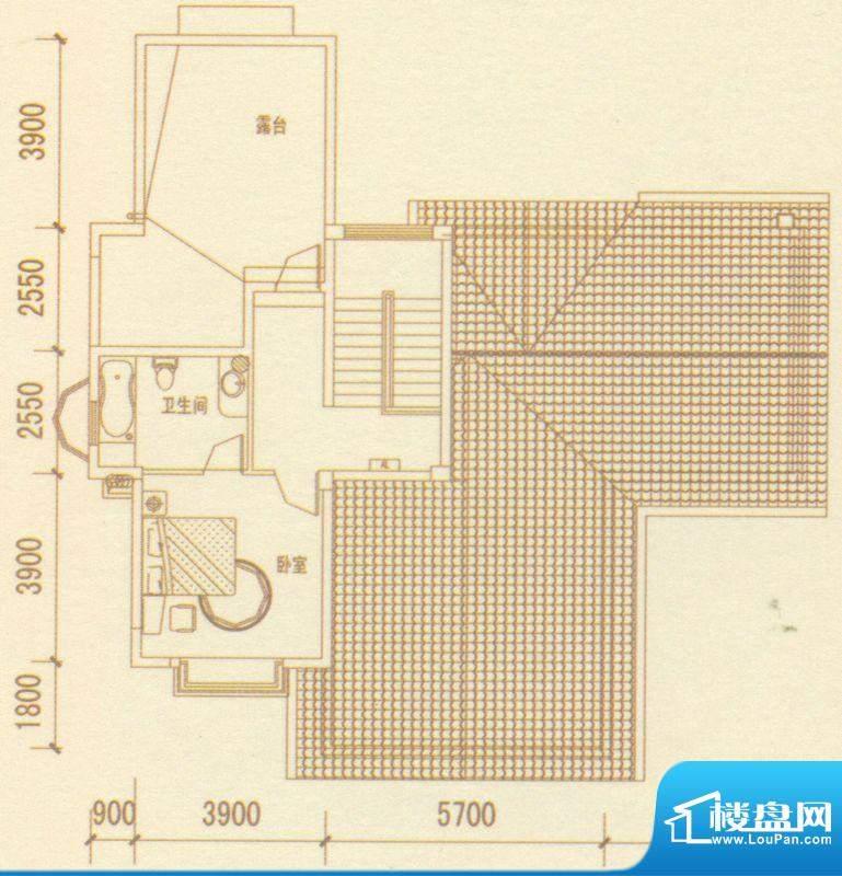 奥林匹克记者村户型图别墅D户型面积:429.83平米