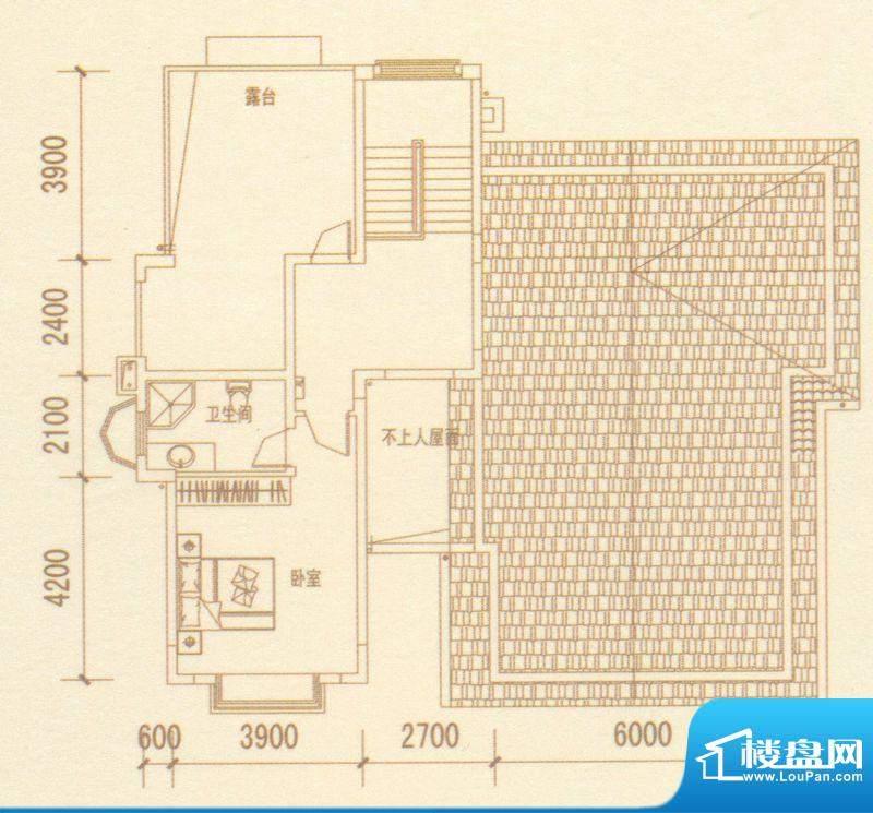 奥林匹克记者村户型图别墅G户型面积:429.40平米