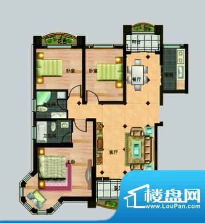 玉秀湾户型图7 3室2面积:152.00m平米